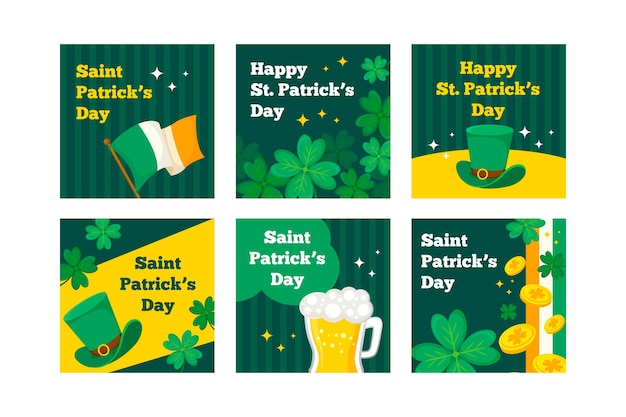 Instagram st. patrick's day post verzameling