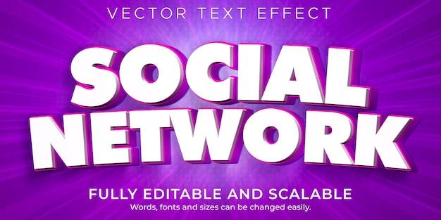 Instagram-teksteffect voor sociale media, bewerkbare tekststijl voor bedrijven en marketing