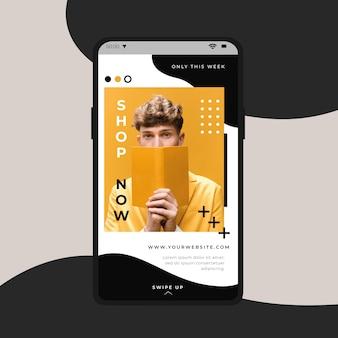 Instagram-verhaal met nu aangeboden winkel