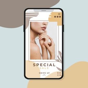 Instagram-verhaal met speciale verkoop