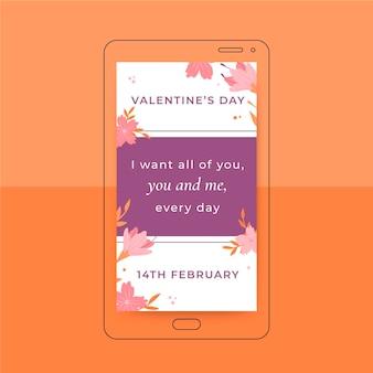Instagram-verhaal valentijnsdagsjabloon