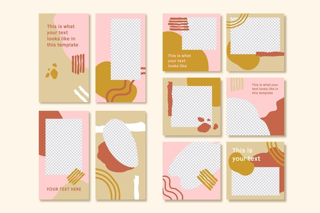 Instagram-verhalen en postverzameling
