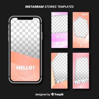 Instagram verhalen frames sjablonen