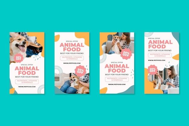 Instagram-verhalen over dierenvoeding