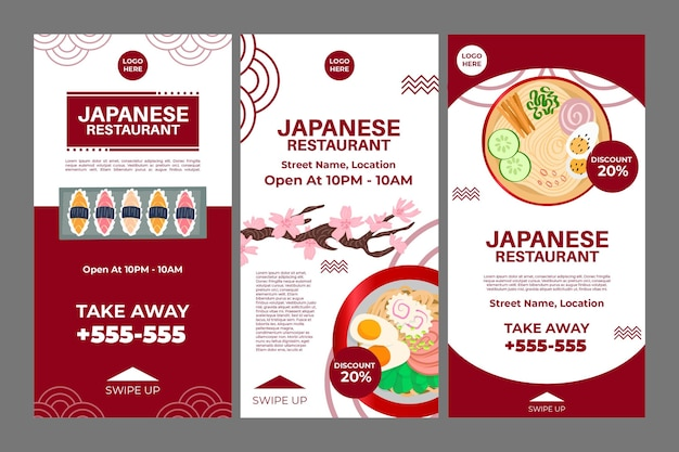 Instagram-verhalen over japans restaurant