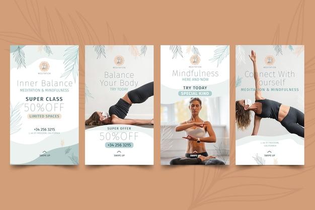 Instagram-verhalen over meditatie en mindfulness