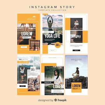 Instagram verhalen sjablonen Gratis Vector