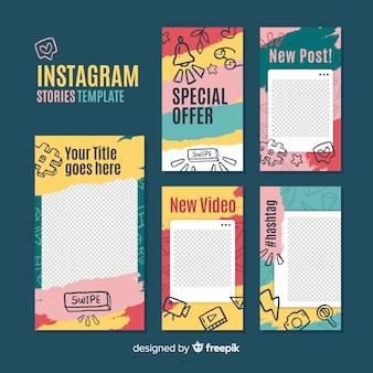 Instagram-verhalen sjabloon met leeg frame