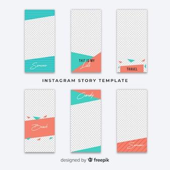 Instagram verhalen sjabloon