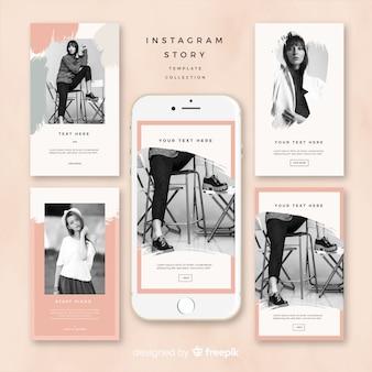 Instagram verhalen sjabloonontwerp