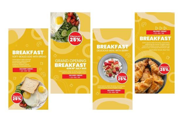 Instagram-verhalen van het ontbijtrestaurant