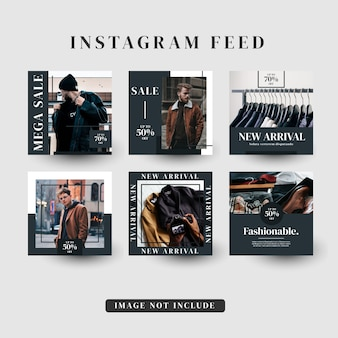 Instagram verhalen voeden post mode verkoopsjabloon
