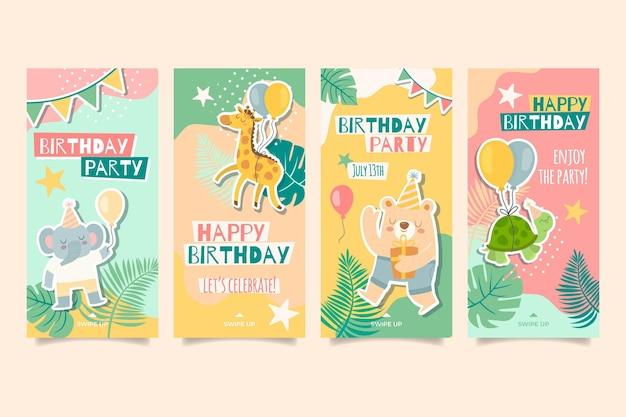 Instagram-verhalen voor de verjaardag van kinderen