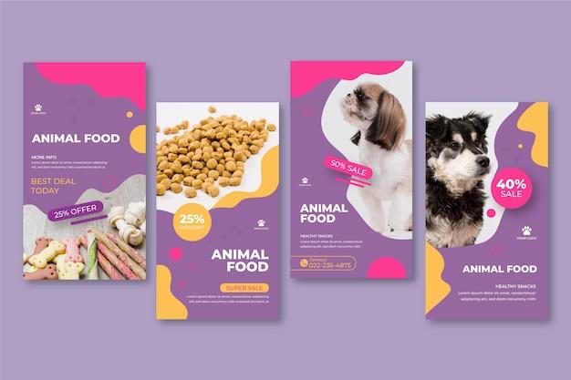 Instagram-verhalen voor dierenvoeding
