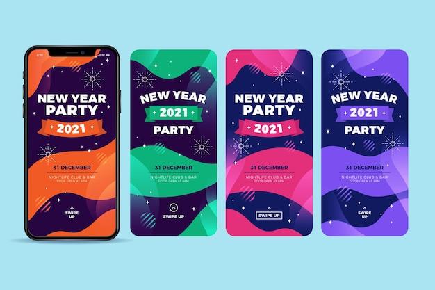 Instagram-verhalen voor het nieuwe jaar 2021-feest