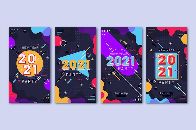 Instagram-verhalen voor het nieuwe jaar 2021