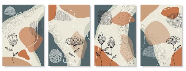 Instagram-verhalenachtergrond met bloemen en abstracte stijl
