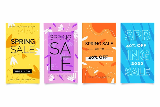 Instagram-verhalencollectie met voorjaarsverkoop