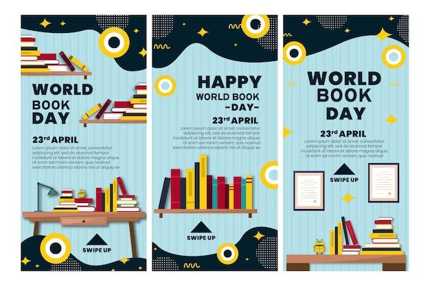 Instagram-verhalencollectie voor de viering van de wereldboekendag