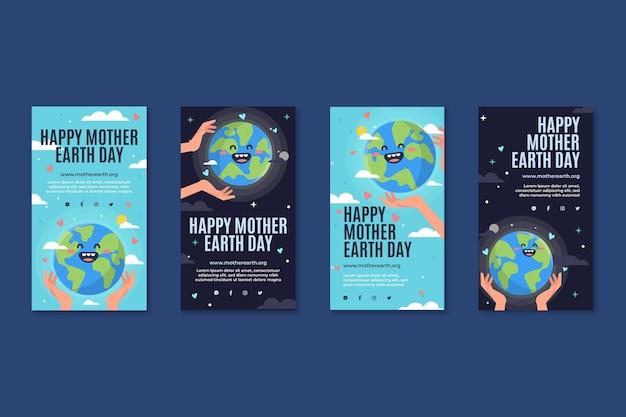 Instagram-verhalencollectie voor de viering van moeder aarde dag