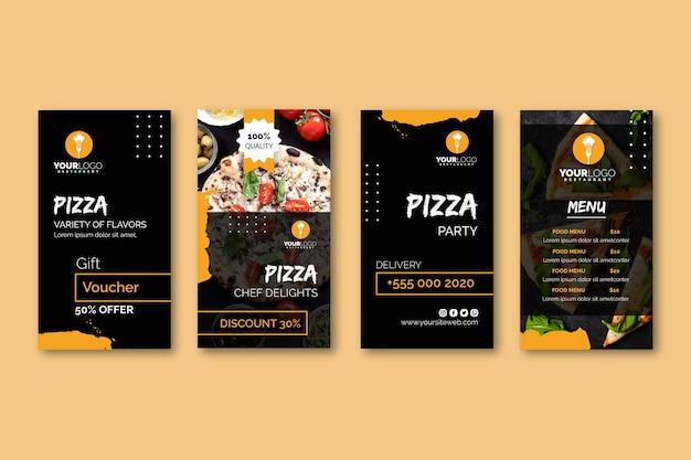 Instagram-verhalencollectie voor pizzarestaurant