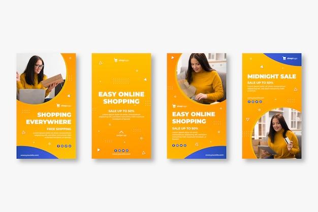 Instagram-verhalenpakket voor online winkelen