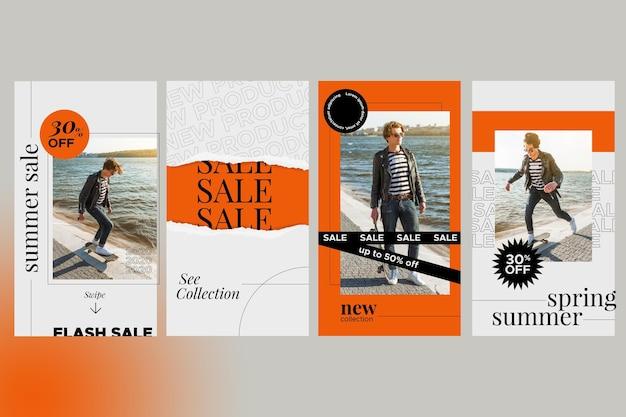 Instagram verkoopverhalen collectie