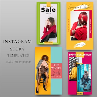 Instagramverhaal voor sociale media-sjabloon