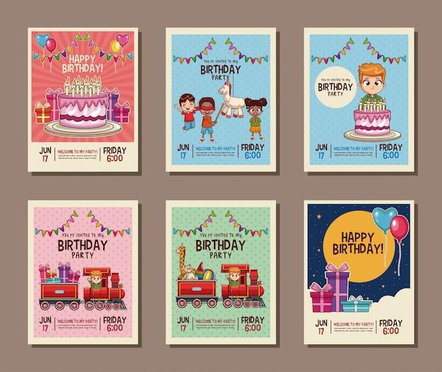 Instellen op de verjaardagskaart voor verjaardagsfeestjes