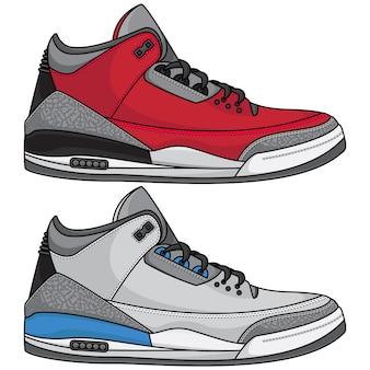 Instellen van sneakers ontwerp