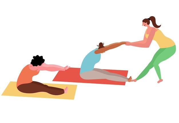 Instructeur yoga groepslessen voor vrouwen