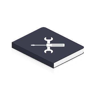 Instructie boek. gebruikershandleiding boekpictogram illustratie.