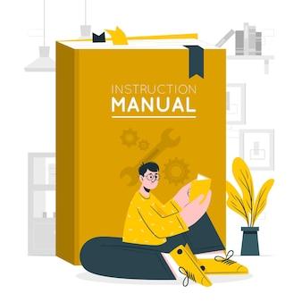 Instructie handleiding concept illustratie