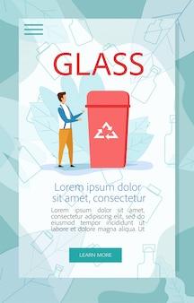 Instructie voor sorteren van glasafval