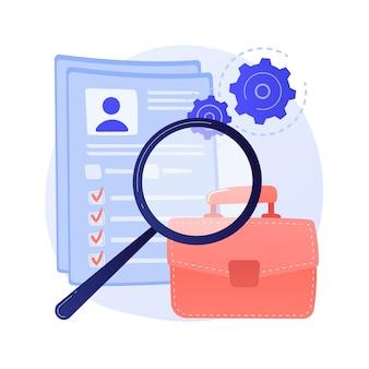 Instructiehandleiding, gids. document met tandrad geïsoleerd ontwerpelement. mannelijke karakter analyseren bestand. bedrijfsanalyse, gegevensverwerking, conceptillustratie bijwerken