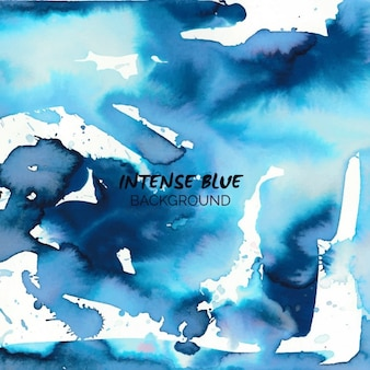 Intens blauwe aquarel achtergrond