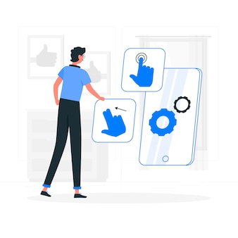 Interactie ontwerpconcept illustratie
