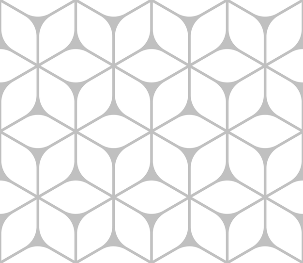 Interessante driehoekige hexagon in cirkelontwerp