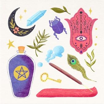Interessante esoterische elementen geïllustreerd