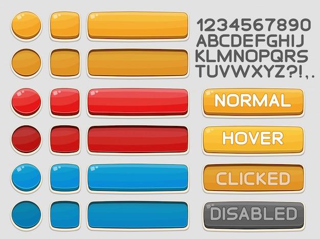 Interface-knoppen ingesteld voor games of apps