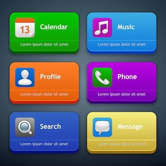 Interface notificatiesjabloon set