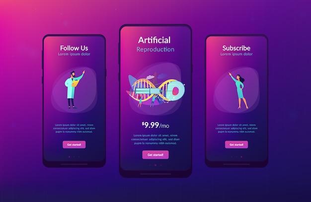 Interface-sjabloon app kunstmatige reproductie.