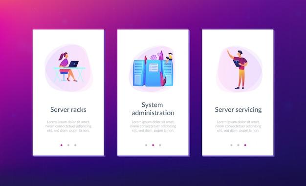 Interface-sjabloon app systeembeheer