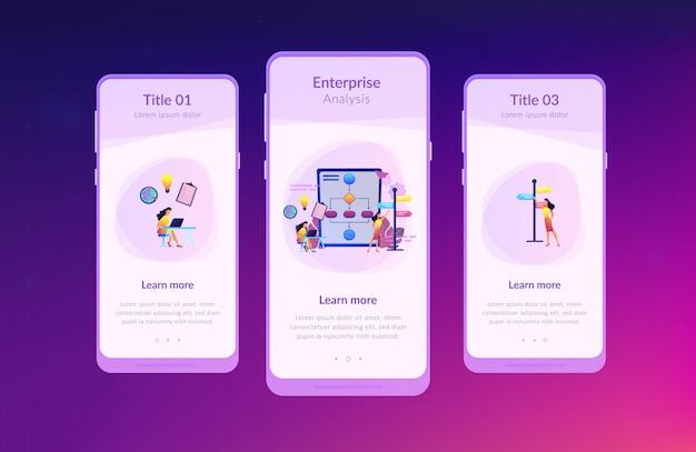 Interface-sjabloon voor app voor beheer van beslissingen