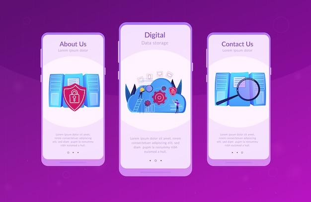 Interface-sjabloon voor cloudopslag-app.