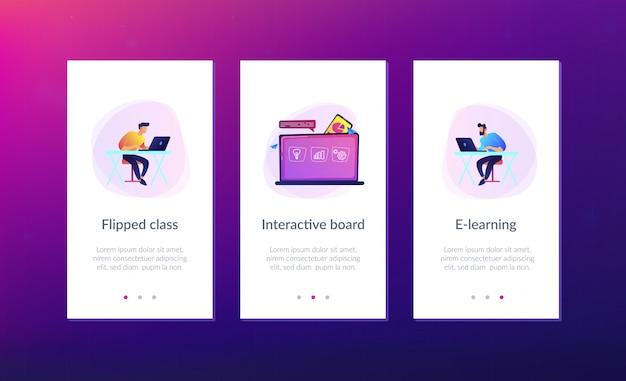 Interface-sjabloon voor digitale leerapp.
