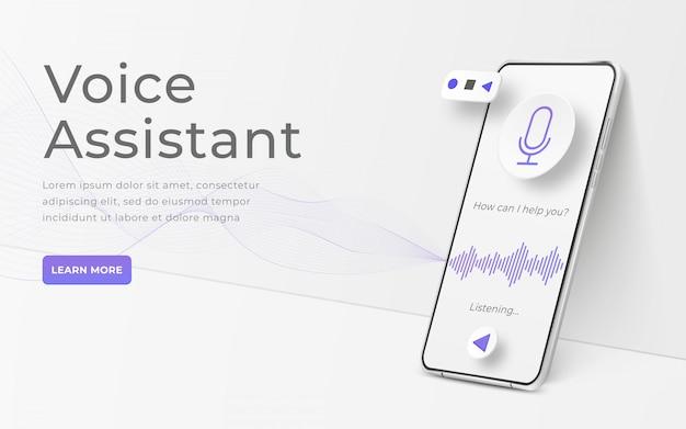 Interface voor audio control illustratie