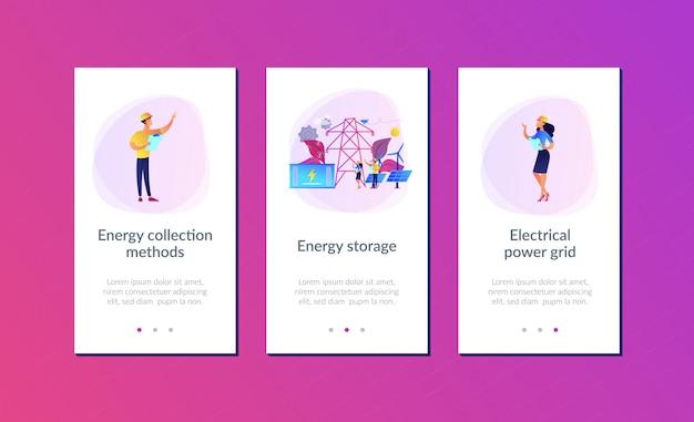 Interfacejabloon voor energieopslag-app.