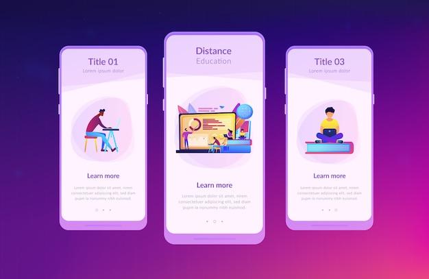 Interfacemalplaatje voor app voor afstandsonderwijs.