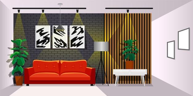 Interieur behang voor videoconferenties